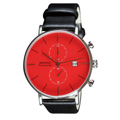 Bauhaus watch Chronograph red