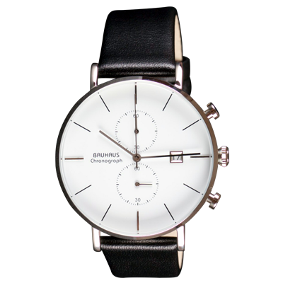 Bauhaus watch Chronograph white