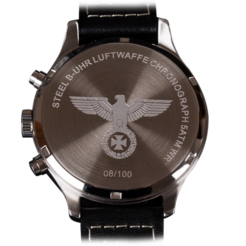 luftwaffe flieger chronograph back side