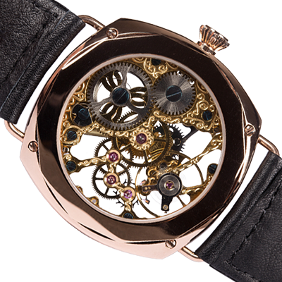 THE ROSE GOLD B-UHR SKELETON back side