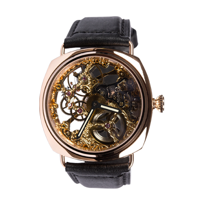 THE ROSE GOLD B-UHR SKELETON