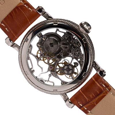 THE B-UHR Luftwaffe SKELETON tourbillon back side