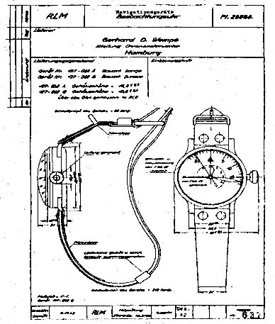 The original design drawing b-uhr